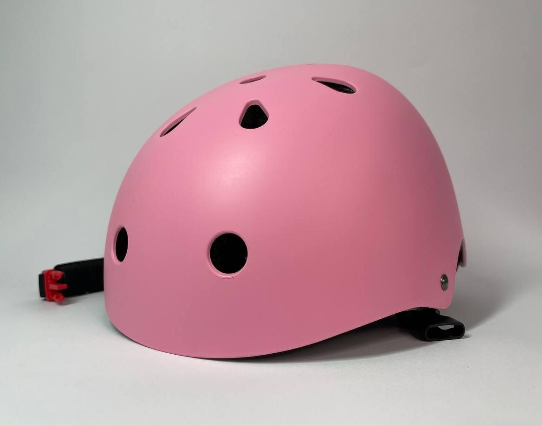 Набір захисної екіпіровки дитячий з шоломом рожевий