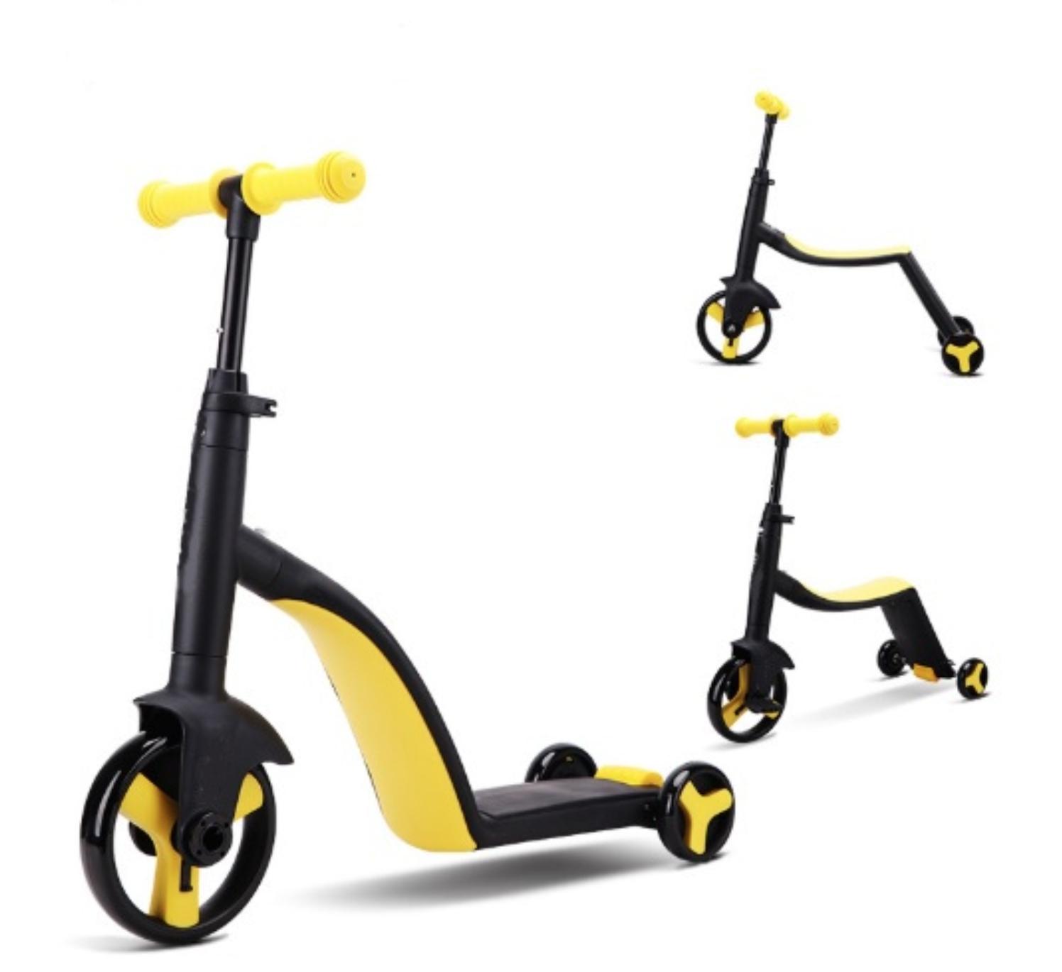 Самокат-беговел перевертень/велосипед дитячий 3 в 1 червоний + Набiр Trix Trux